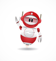 funny red robbot