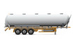 Oil Tank Truck Isolated