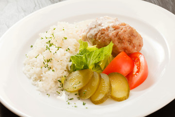 cutlet with rice