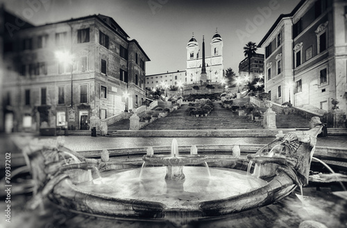Fotobehang Rome Vintage style photograph of Spanish Steps, Rome - Italy.
