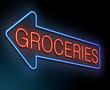 Groceries concept.