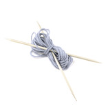 Knitting with spokes isolated on white