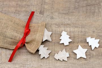 Beutel mit Weihnachtsbaum