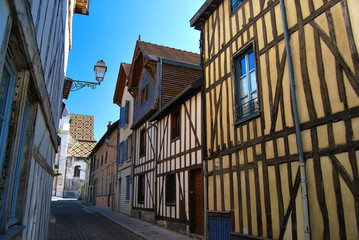 Maisons urbaines à colombages Troyes en Champagne