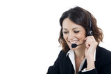 Woman customer service worker, call center smiling operator - 70938497