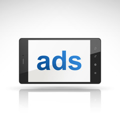 ads word on mobile phone