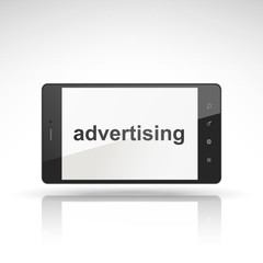 advertising word on mobile phone