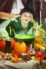 Witch brews a green brew