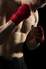 On a kick boxing training