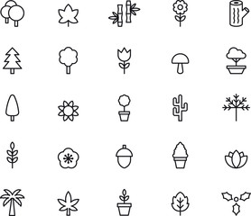 Flowers, Plants & Trees icons