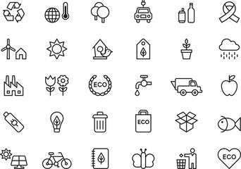 Green Environment & Recycling icons