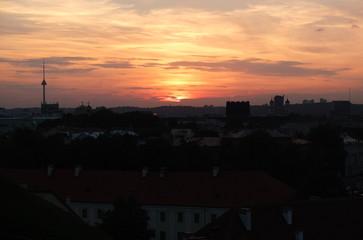 Вечер над городом