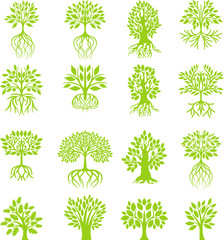 Green tree collection