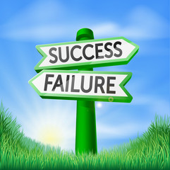 Success or failure decision sign