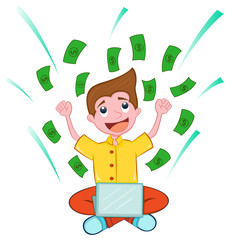 Success internet businessman