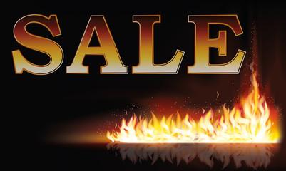 Fire sale background, vector illustration