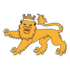 Golden regal  heraldic lion