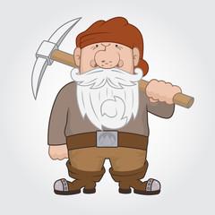 Dwarf with pick