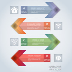 arrow infographics design