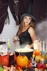 Witch throwing secret ingredient