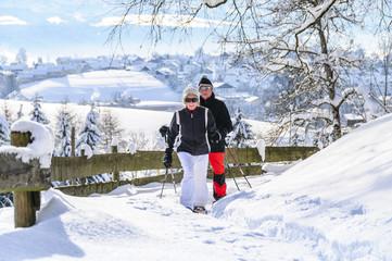 Winterliche Tour im frischen Schnee