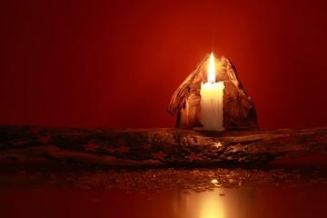 Kerze, weihnachtlich