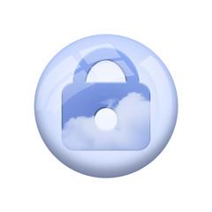 Icone nuage : verrouiller