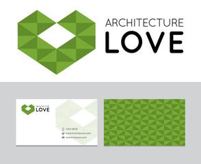 Architecture love logo