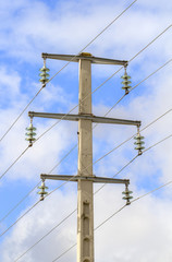 electric high tension tower