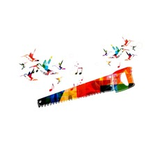 Colorful hand saw design