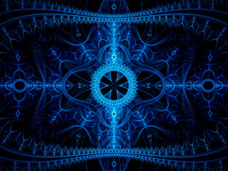 Blue winter fractal