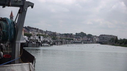 Port in Trouville, France