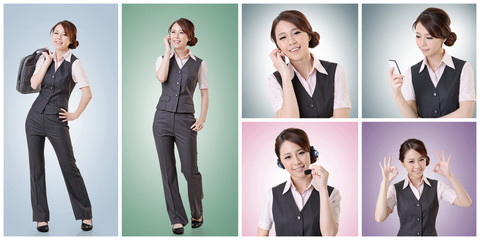 business woman collection