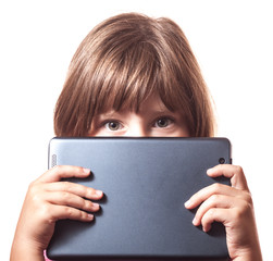 The child with the tablet 2