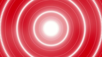 red abstract loop motion background, flash circle light