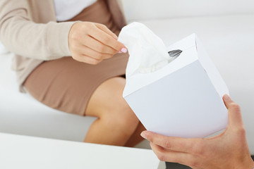 Giving paper tissues