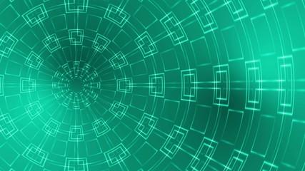 abstract loop motion background, kaleidoscope green light