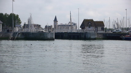 Harbor in Trouville, France