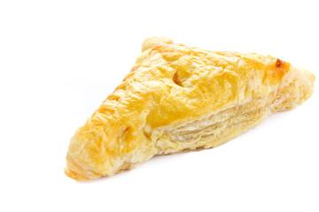 Chicken pie on white background