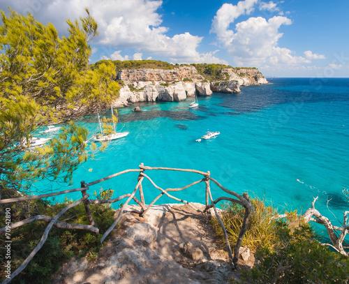 Balcony to mediterranean sea in Cala Macarella - 70942890
