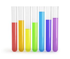 laboratory test tubes inside, isolated