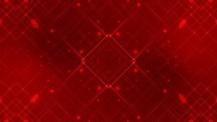 red abstract loop motion background, kaleidoscope