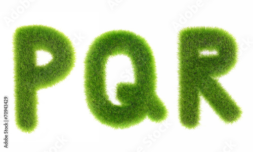 grass letter isolated on white background - 70943429
