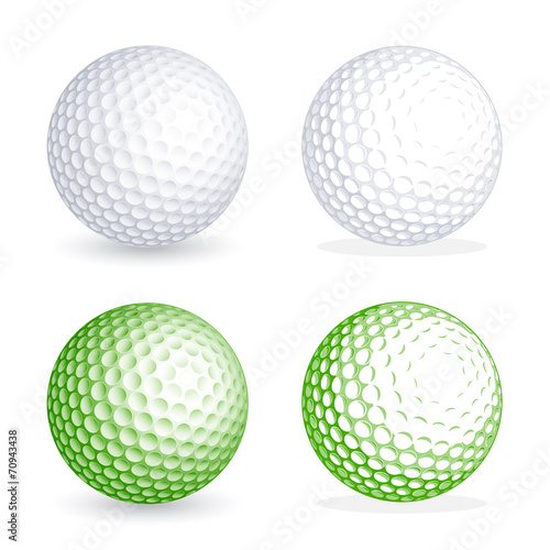 Fototapeta Vector golf Ball