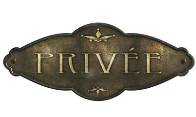 Privée - Ornament Plakette Metallplatte G
