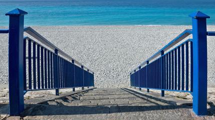City of Nice - Stairs to beach