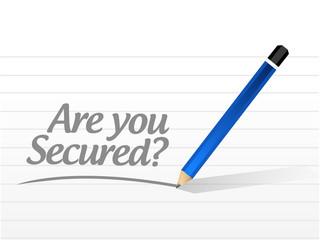 are you secured message illustration design