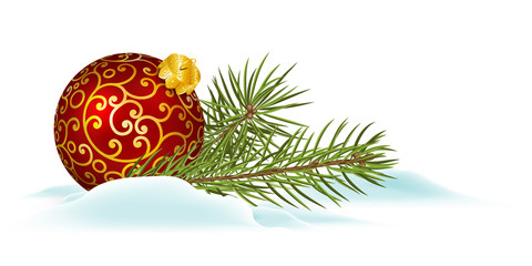 Weihnachtskugel, Weihnachtskarte, Panorama, Banner, Head, xmas