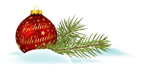 Fröhliche Weihnachten, Weihnachtskarte, Panorama, Banner, xmas