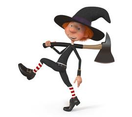3D boy wearing Halloween
